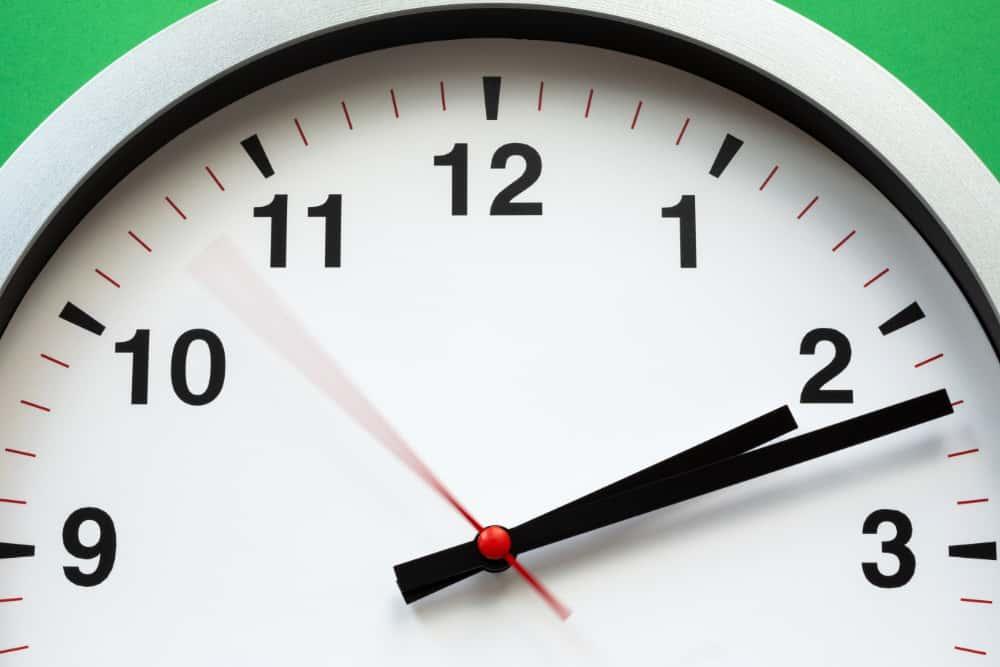 REgistro de jornada. Imagen de Reloj
