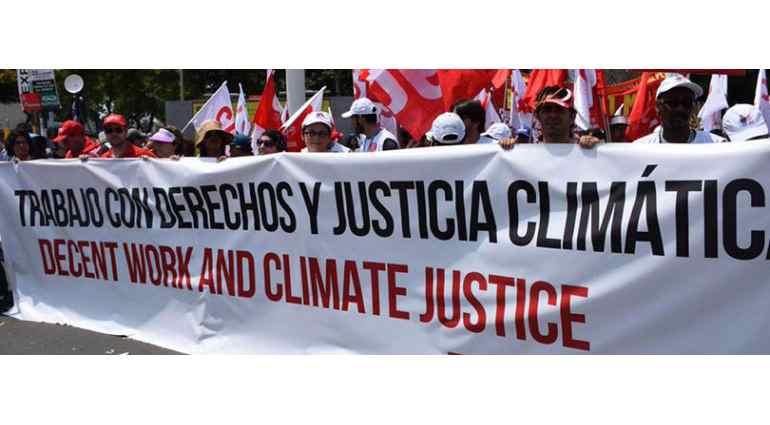 Manifestación cambio climatico