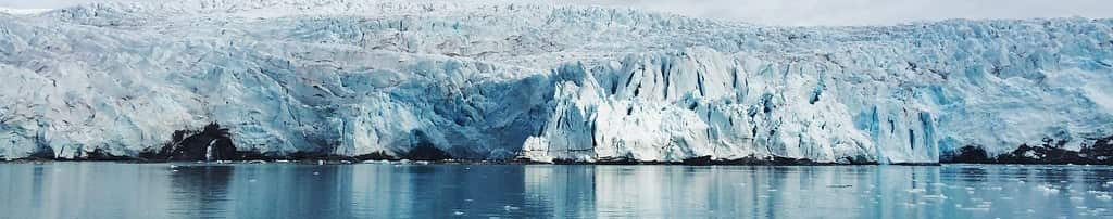 Imabgen de Glaciar. Cambio climatico