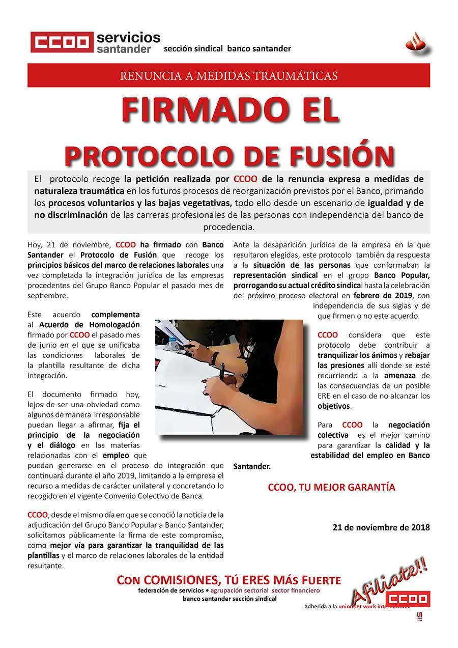 protocolo fusion Santander