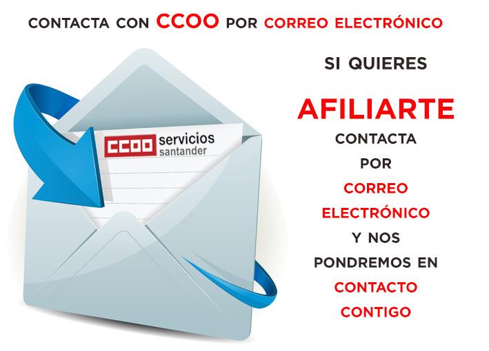 Contacta con CCOO Banco Santander en bancosantander@servicios.ccoo.es
