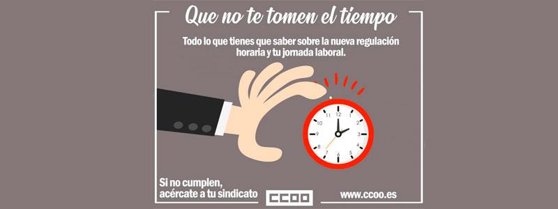 Campaña de información de CCOO sobre el registro horario: QUE NO TE TOMEN EL TIEMPO