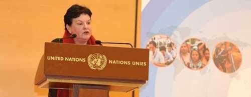 Sharan Burrow. Secretaria General CSI