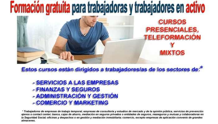 Formacion gratuita para trabajadores y trabajadoras en activo