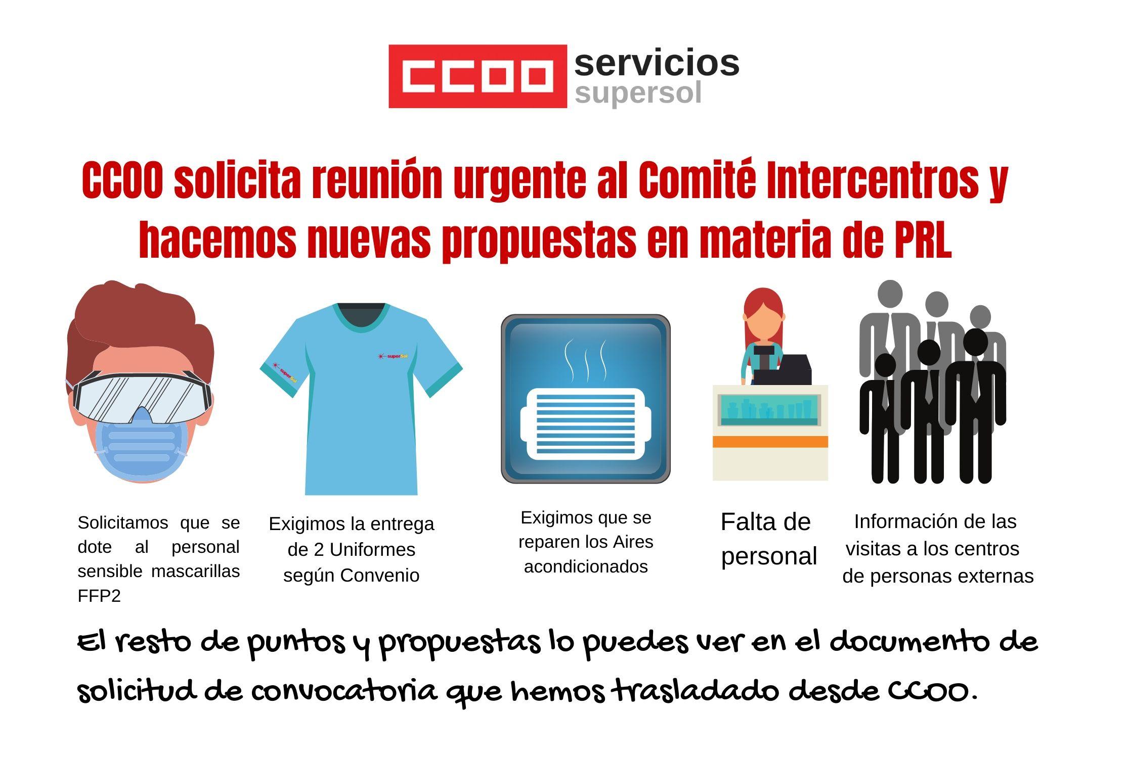 CCOO solicita reunión de Comité Intercentros en Supersol