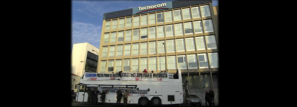 Reivindicaciones de los delegados de CCOO en Tecnocom