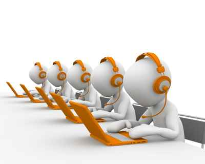 Call center. Telemarketing