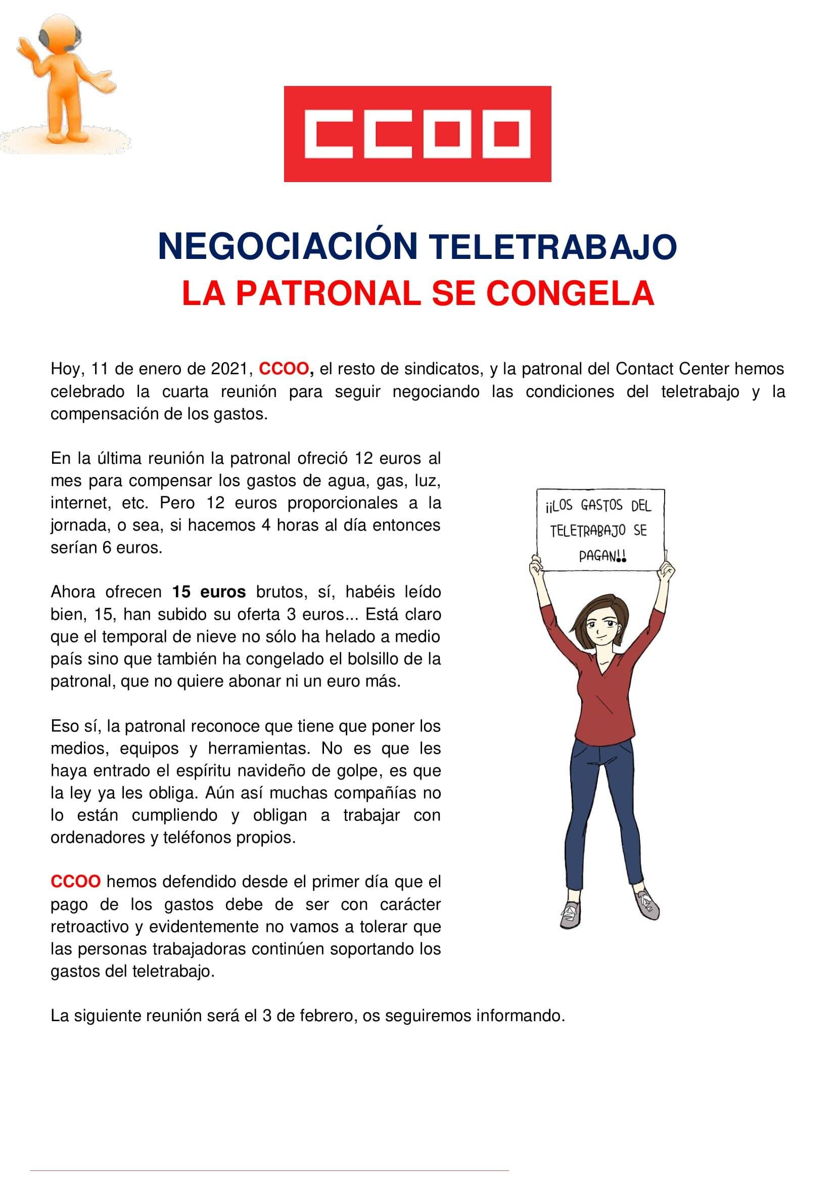 Comunicado contact center teletrabajo