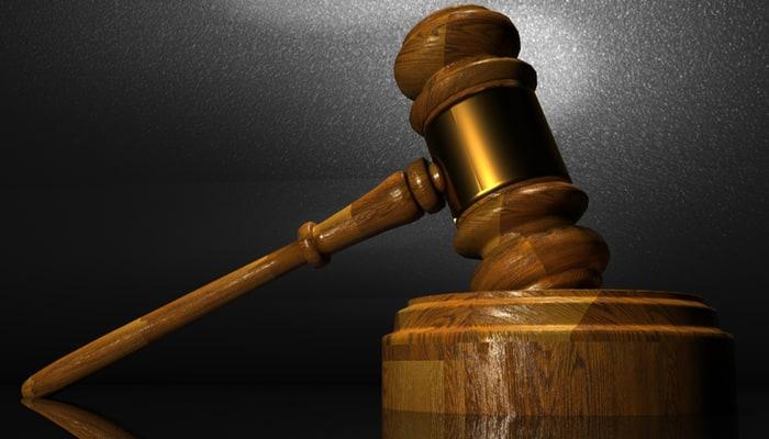 Mazo de tribunal de justicia