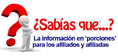 La informaci?n en porciones para los afiliad@s de Unicaja.