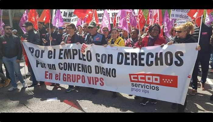 Trabajadoras y trabajadores del Grupo VIPS por su convenio